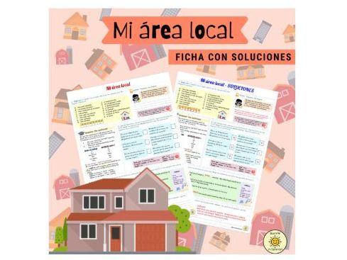 Mi área local. Donde vives. Hacia un mundo mejor. Ficha con soluciones Spanish GCSE Answers included
