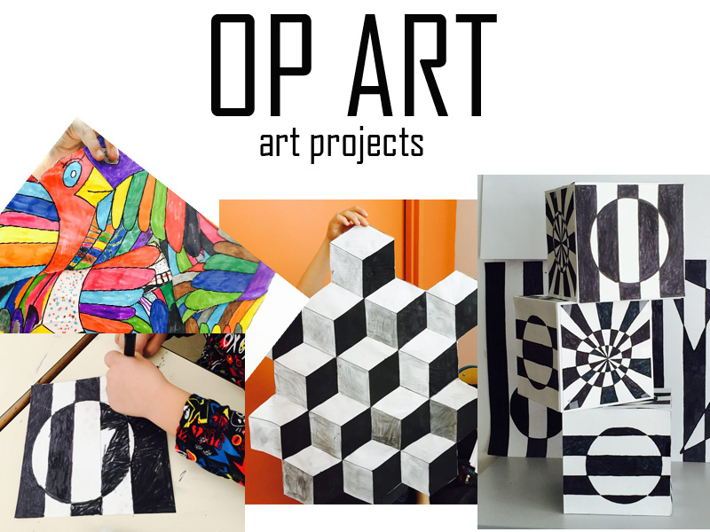 Optical illusions OP ART art projects