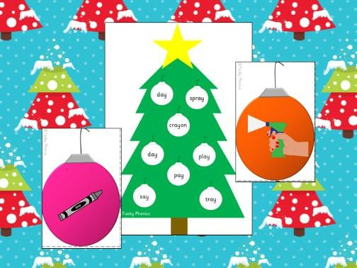 Phonics Phase 5 Christmas Tree Bingo