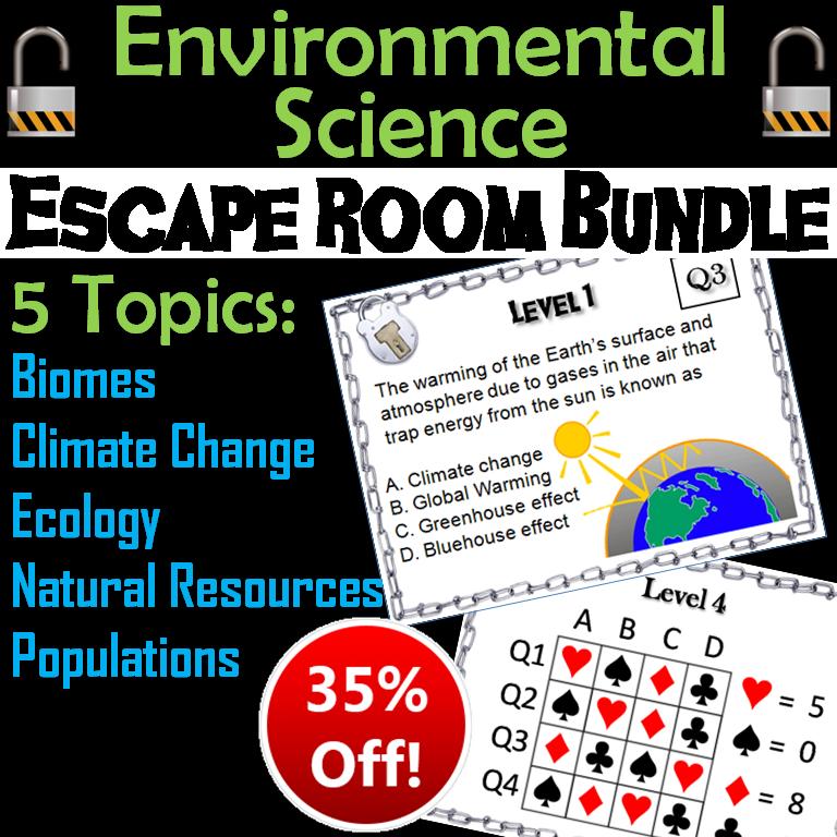 Environmental Science Escape Room: Ecology Unit Bundle