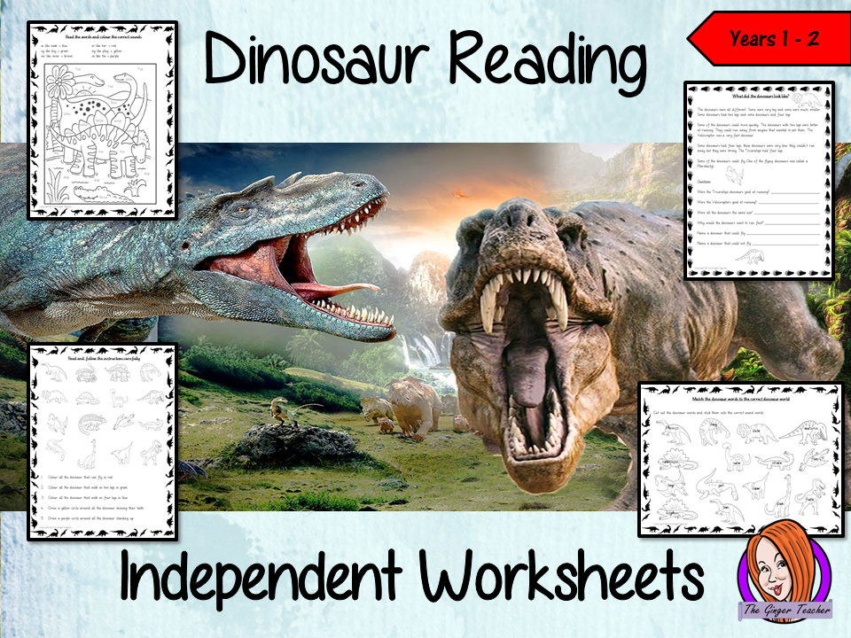 Dinosaur Themed Independent Reading Work