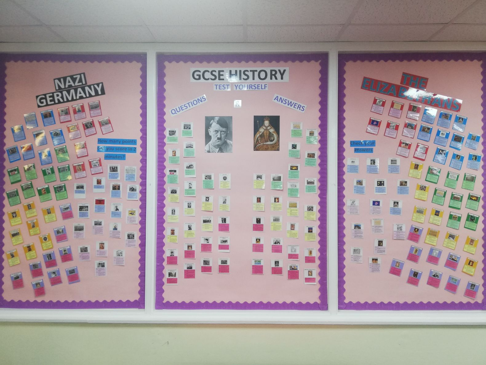 OCR History B: Elizabethans & Nazi Germany - Revision Cards and Classroom Display Bundle