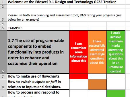Edexcel DT GCSE 9-1 Digital Tracker (Core)