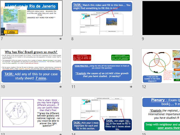 AQA URBAN CASE STUDY: Rio - Introduction to Rio (Lesson and Resources).