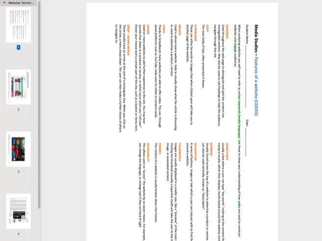 Website Language (Codes Terminology) / Student Example Analysis / Math Up task / Design