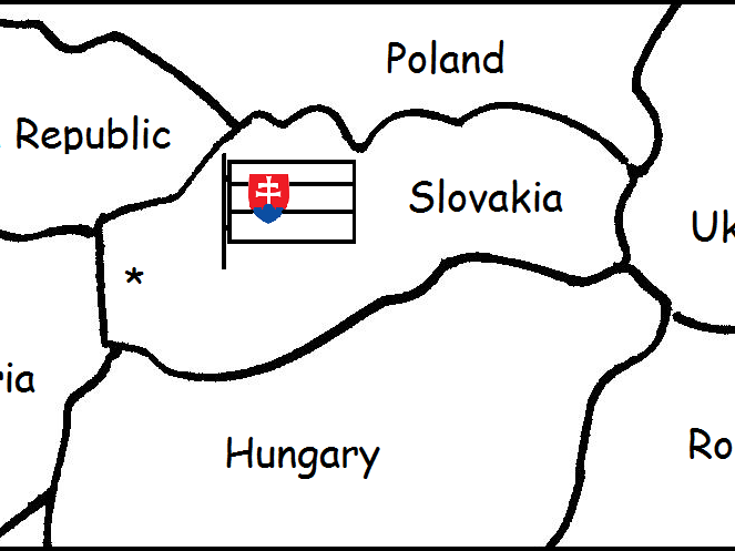 SLOVAKIA - Printable handout with small map and flag