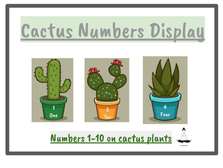 Cactus Number Display 1-10 Classroom Display/Home Learning