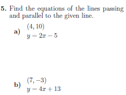 Equation of straight line GCSE/IGCSE Worksheets (with solutions)