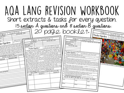 AQA English Language Revision Booklet - 23 practice questions.