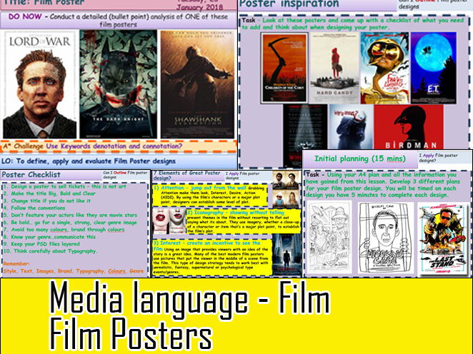 Media Language Film Posters