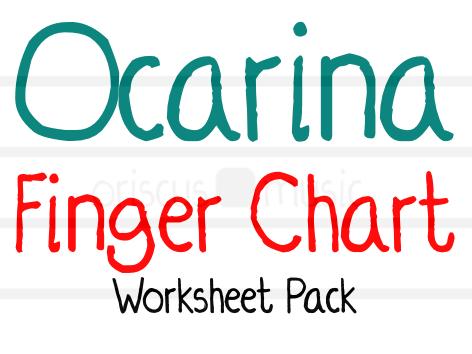 4-hole Ocarina Finger Chart Worksheet Pack