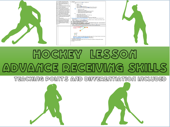 Hockey lesson plan - Advanced receiving (from the side, reverse)