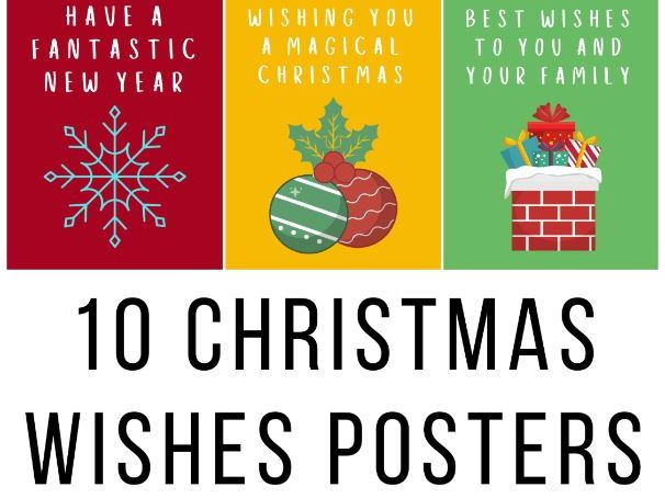 10 Christmas Wishes Posters