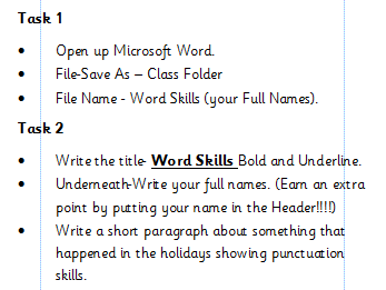 Desktop Publishing Skills in Microsoft Word
