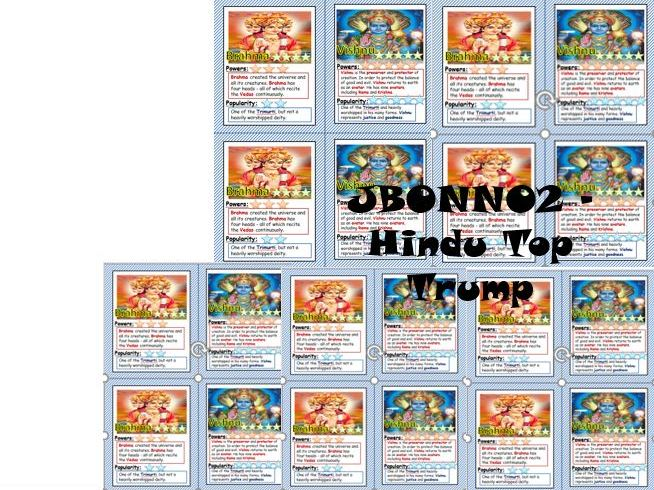 Hindu Deity God Goddesses Top Trumps