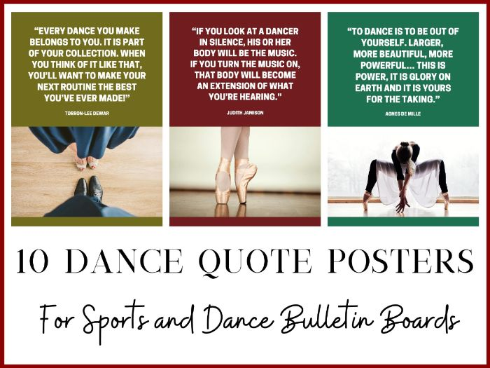 10 Dance Posters for School Sports Departments or Dance Clubs