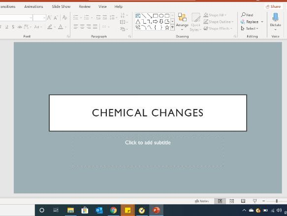 GCSE Chemical Changes
