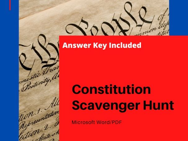 U.S. Constitution Scavenger Hunt