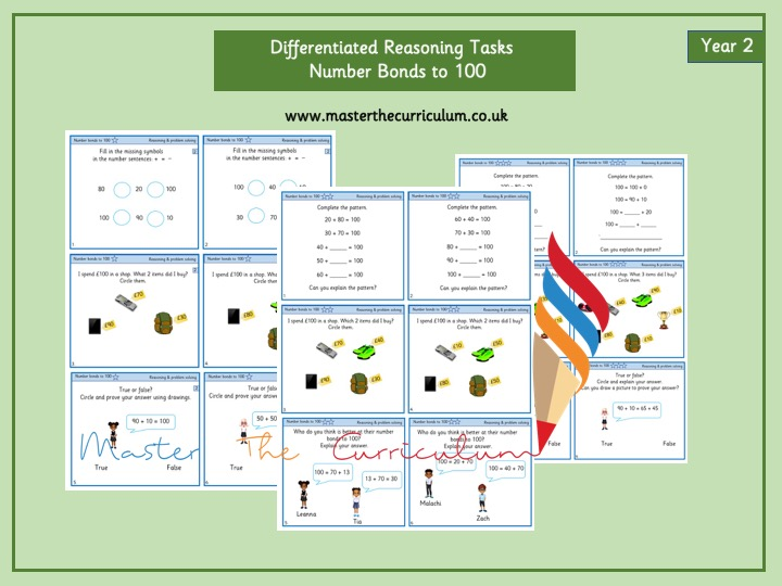 Year 2- Differentiated Reasoning Tasks- Number Bonds to 100
