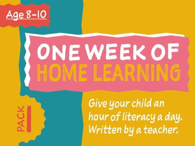1 Week Literacy Distance Learning: PACK ONE (age 8-10 years)