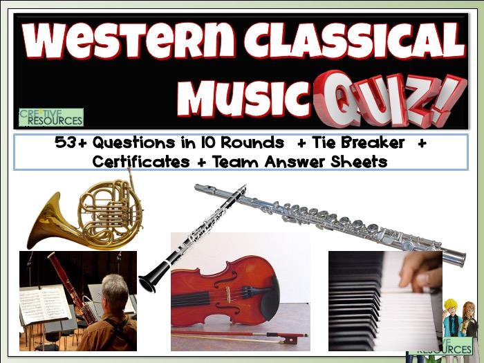 Western Classical Music Quiz