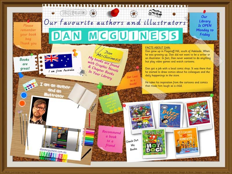 Library Poster - Dan McGuiness Australian Children's Author Illustrator
