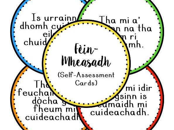 Cairtean Fèin Mheasaidh (Self-Assessment Cards)