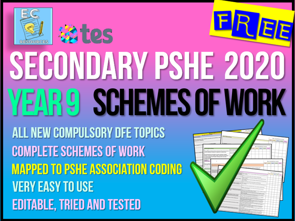 Year 9 PSHE 2020 Schemes of Work