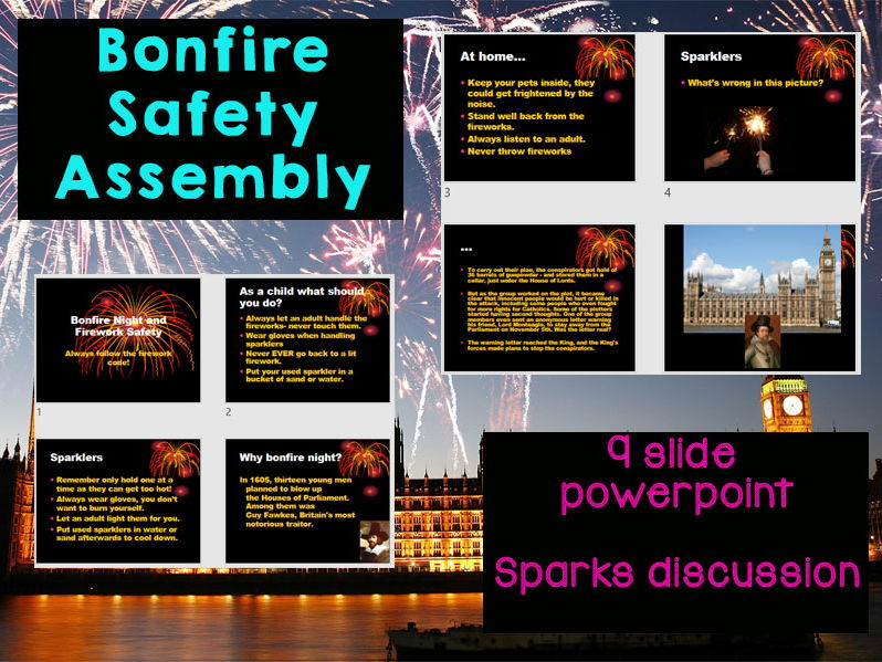 Bonfire Night Safety Assembly - KS1 and KS2