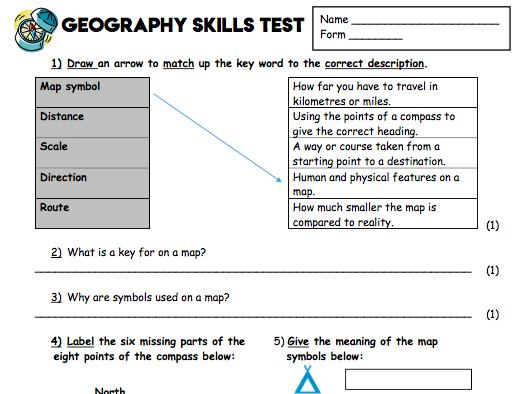 Geographical Skills Assessment Y7/KS3