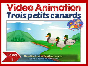 French Immersion - song in video animation - Trois petits canards
