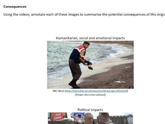 European Migrant 'Crisis' CASE STUDY and DME