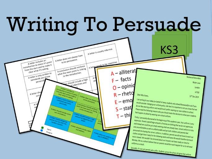 Writing To Persuade.