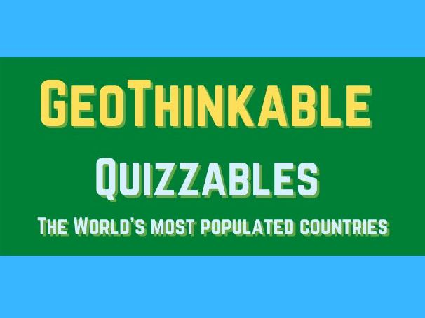 The World's Most Populated Countries: Quiz (Squared Format)