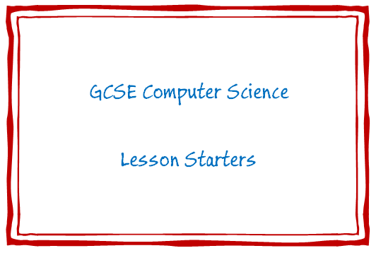 Computer Science Starters Bundle GCSE