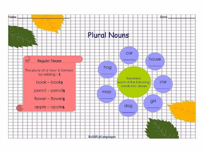 Plural Nouns Practice 1