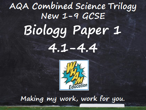 AQA Combined Science Trilogy: Biology Paper 1, 4.1-4.4
