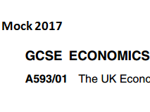 OCR GCSE Economics F593 The UK Economy and Globalisation Mock 2017