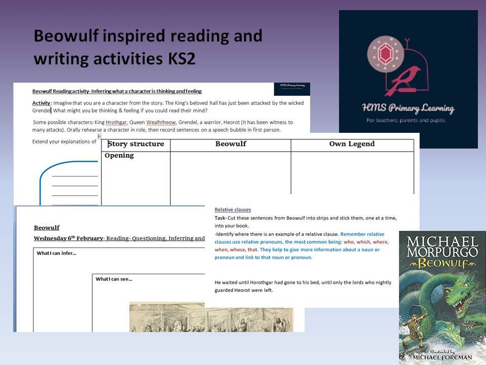 Beowulf inspired reading and writing activities