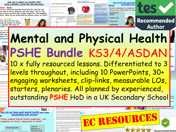 Health and Mental Health PSHE
