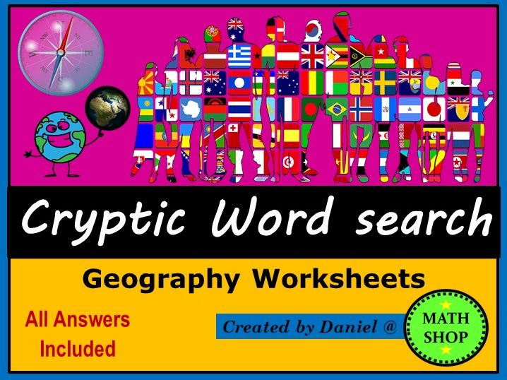 Geography  Wordsearch