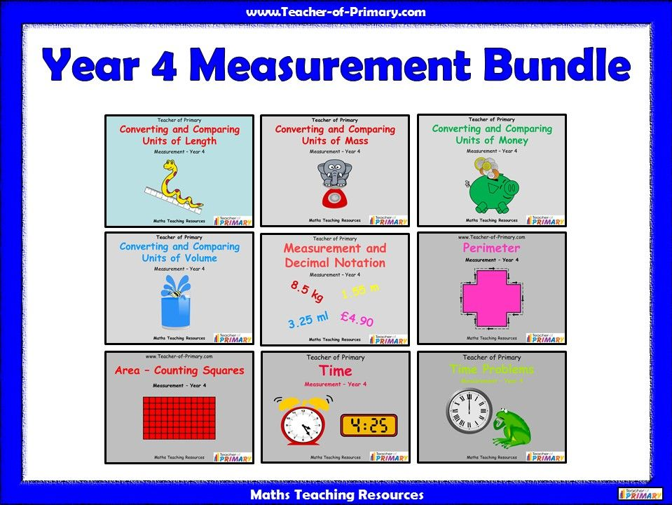 Year 4 Measurement Bundle