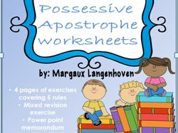 Possessive Apostrophe Worksheets and Power Point Memorandum
