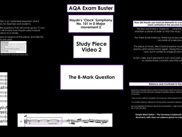 AQA GCSE Music Exam Buster: Hadyn's Clock 8-Mark Question Buster