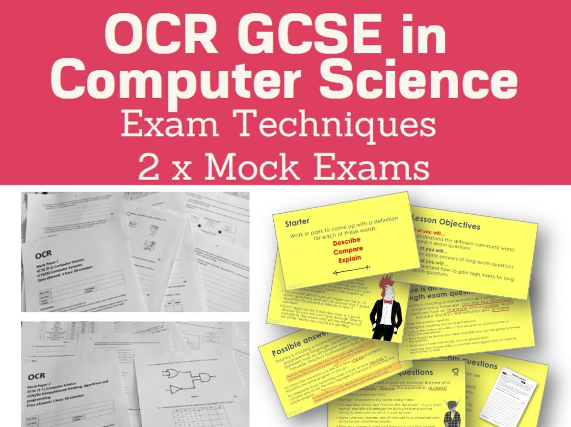 Exam Technique Lesson and Mock Exams for OCR GCSE (9-1) Computer Science J276