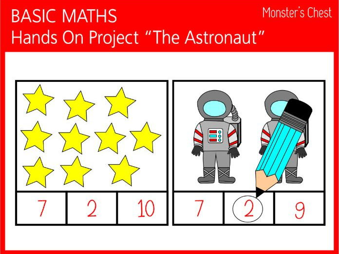 Basic Maths 1-10. Hands-on Project The Astronaut