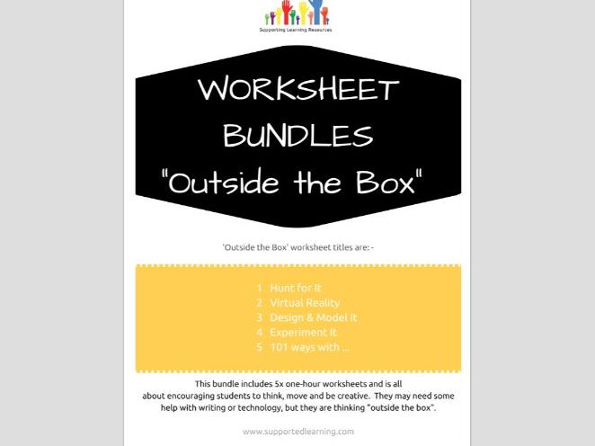 OUTSIDE THE BOX - 5 worksheets