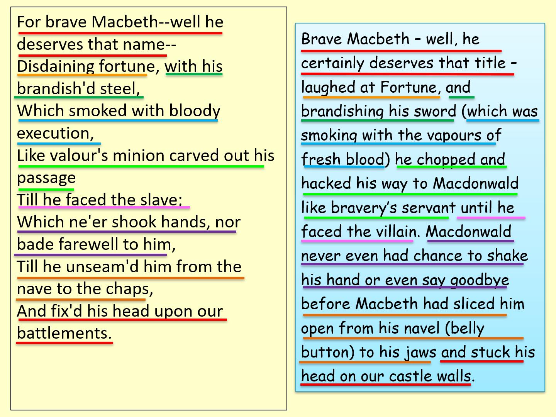 Macbeth for Lower Ability