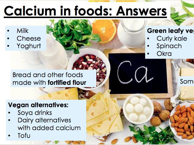 KS3 Food - Calcium & Dairy