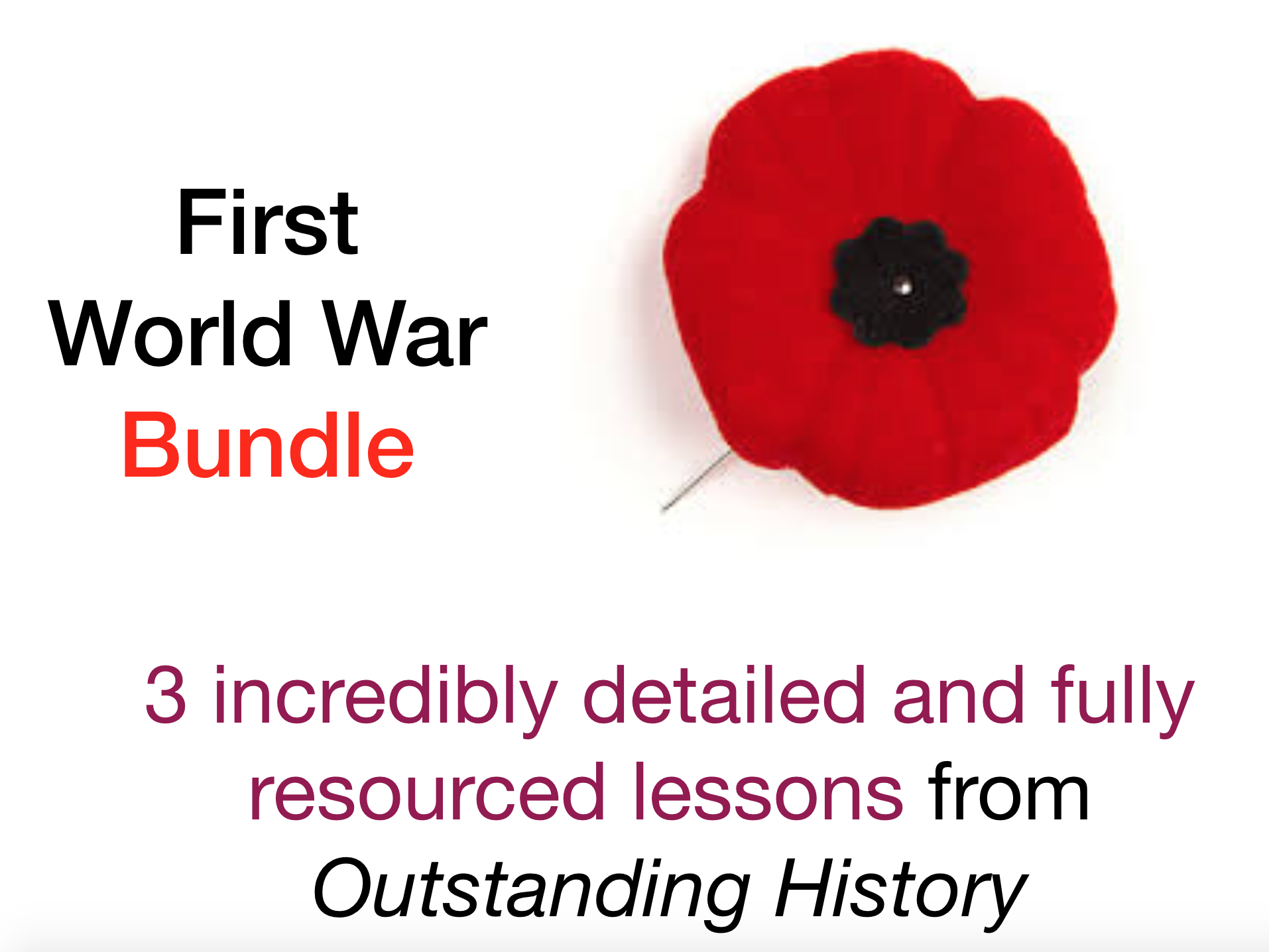 First World War Bundle - Outstanding Fully Resourced Lessons